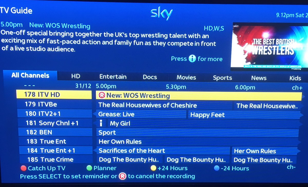 Set your reminders now @WOSWrestlingITV 5pm New Years Eve! World of Sport Wrestling return! #WOS https://t.co/LjAvWh3jax