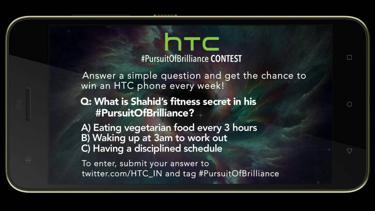 HTC #PursuitOfBrilliance contest is live now @MissMalini @Vh1India #Vh1InsideAccess #HTCDesire10Pro https://t.co/5O1nCnEZKN