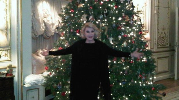 Christmas confusion when Joan Rivers tweets from beyond the grave