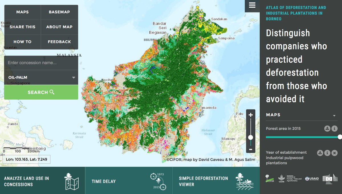 Satellite imaging of wetlands, forest loss and the advance of palm oil: 2016 in maps https://t.co/w4zdEeM98z https://t.co/gdrnd3dQuG