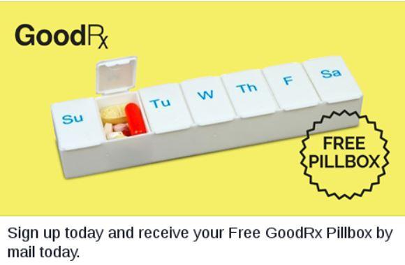 Free GoodRx Pillbox  freebies