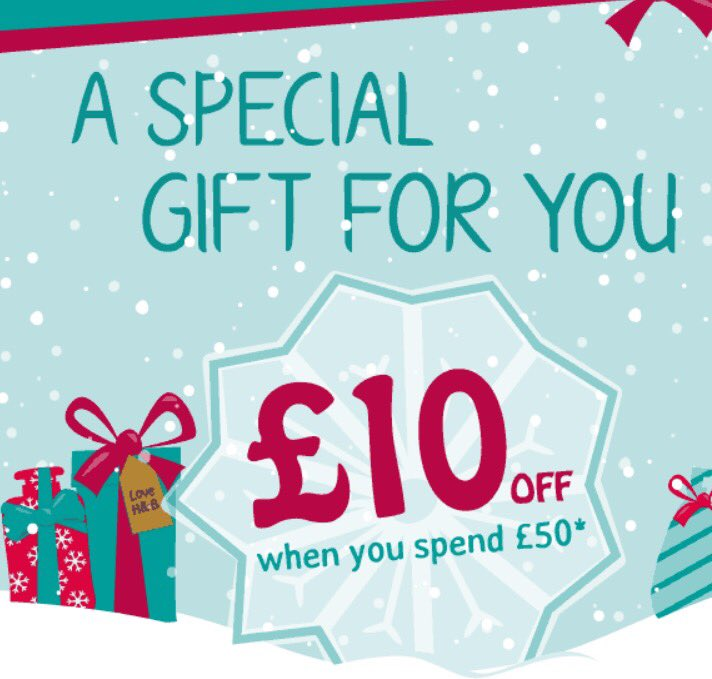 Enjoy £10 off when you spend £50 with promo code 'XMASTREAT'. But hurry, only valid TODAY! https://t.co/bnrDpfrBIg https://t.co/Sr0cZ1p4ur