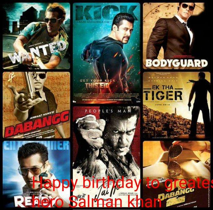 Happy birthday to greatest hero Salman khan