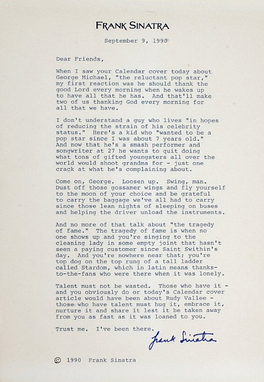 Frank Sinatra's letter to George Michael https://t.co/LXDpjiXqdD
