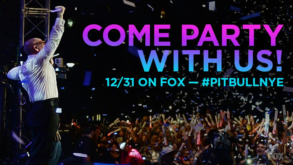 In just six days we can start the 2017 party! Celebrate with #PitbullNYE 12/31 at 11PM ET on @FOXTV @PitbullNYE https://t.co/xj5yvrs7dU