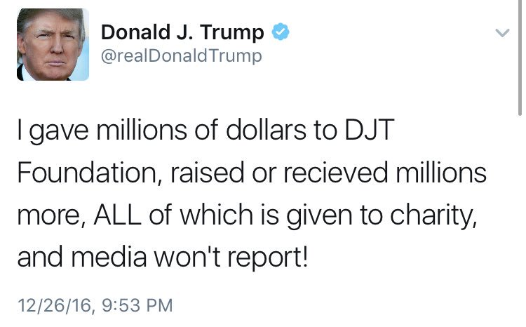 Tax records show that @realDonaldTrump last gave to his charity in 2008 https://t.co/WXuEFUzW6G