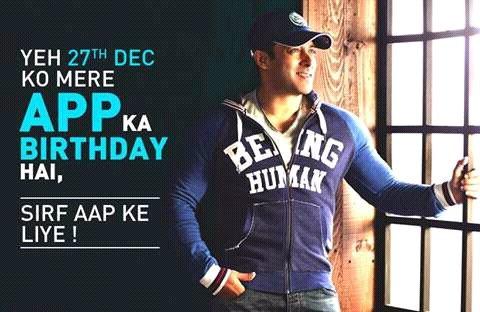Happy birthday bhaijan ...salman khan....