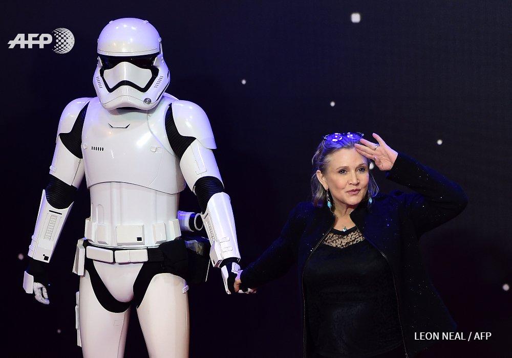 Décès de Carrie Fisher, inoubliable princesse de #StarWars #AFP