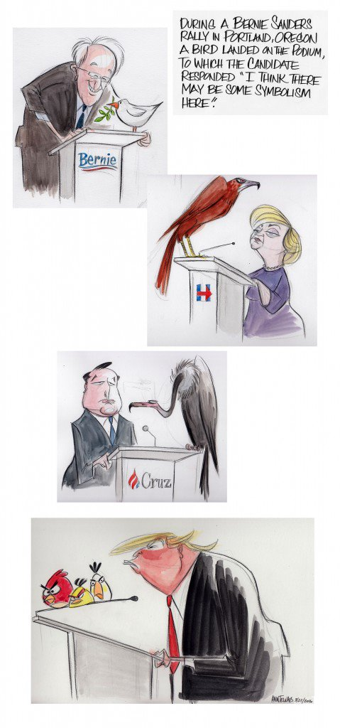 Remember #BirdieSanders? @AnnTelnaes drew up birds for other candidates https://t.co/DiwpWCNvtm https://t.co/ndgNF7LyKW