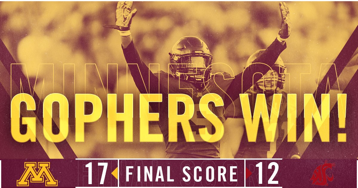 #Gophers win the @HolidayBowlGame! https://t.co/OVjparrYfb