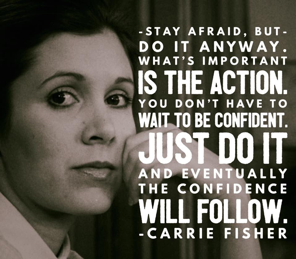 We can all only learn from her #fearlessness #RIPCarrie https://t.co/wUE2Zsx5MF