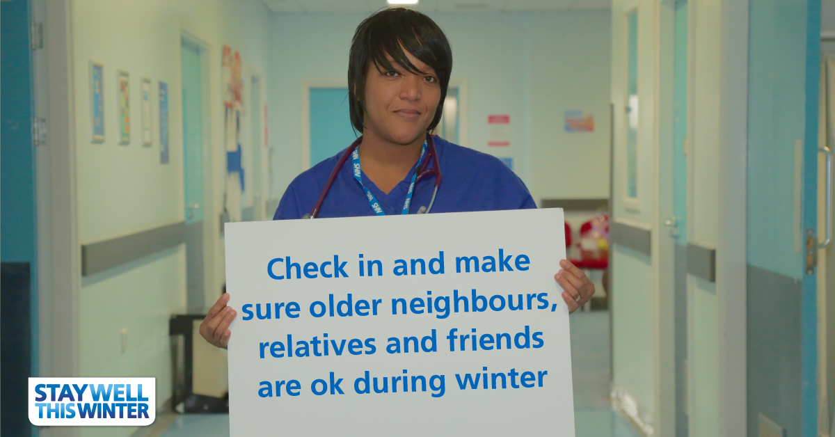 A cold weather alert has been issued by @PHE_uk. Looking out for those around you can help them to stay well: https://t.co/opea97GJiW