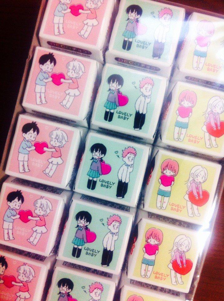 ベイビーステップ男女CP合同誌【ノベルティの配布について】コミで購入いただいた方に、こちらのチョコをランダムで一種配布い