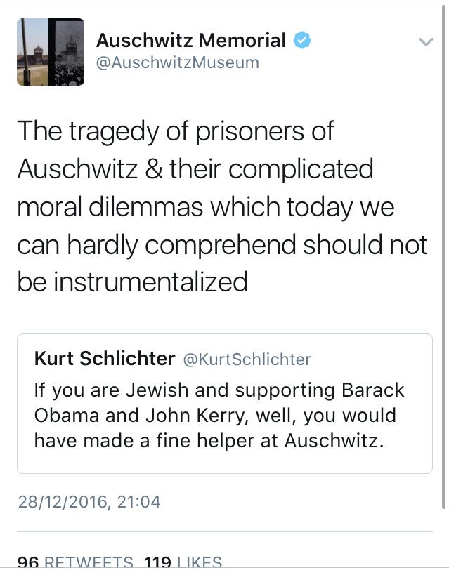 It takes a really special kind of internet person to have the Auschwitz Museum call you out on a tweet then say you still know better