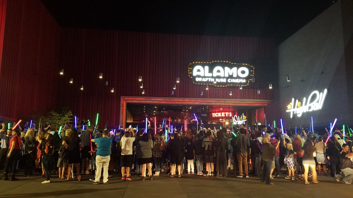 Nice turnout at @drafthouse in #Austin for @carriefisher lightsaber vigil. #StarWars #RIP https://t.co/R2PuUnOW1F