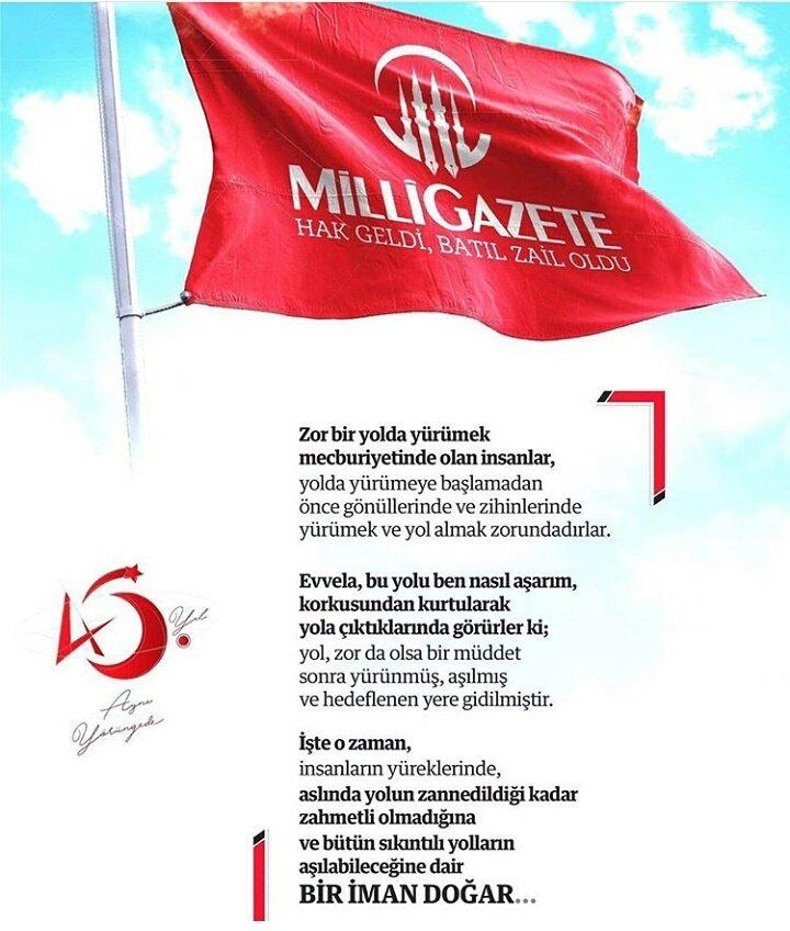 #45YıldırMilliGazete: #45 Y ıld ır Milli Gazete