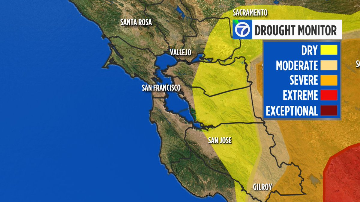 #BREAKING  The #BayArea drought is over!  Dry areas still exist though. #cadrought #StormWatch https://t.co/iHDv5GtuOU
