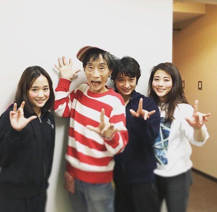 大原櫻子さんのinstagramより楳図先生とミュージカル「わたしは真悟」東京公演を観劇してきました!新国立劇場にて引き