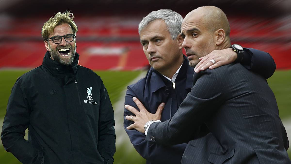 Image result for mourinho and pep guardiola and klopp