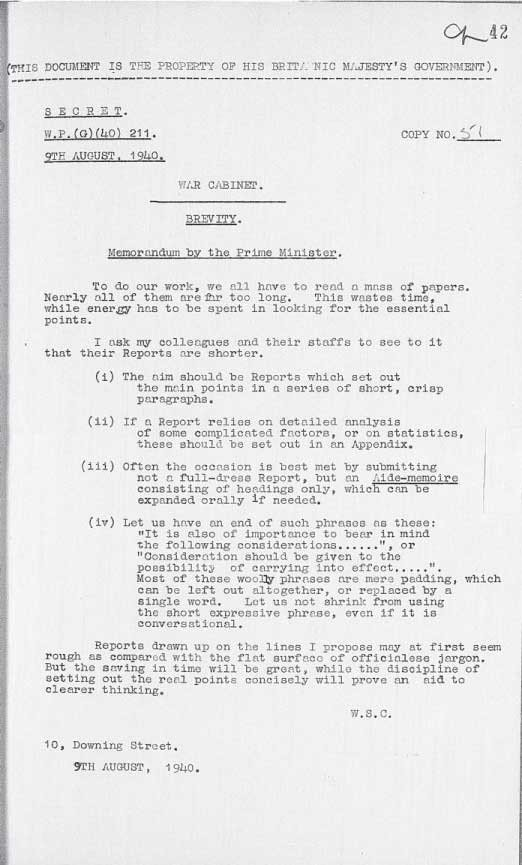 RT @KenRoth: Winston Churchill would have been a Twitter fan.  Here he is on brevity. https://t.co/jYoeazBL0Z