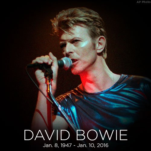 David Bowie died on this day last year. Rest in peace, Starman