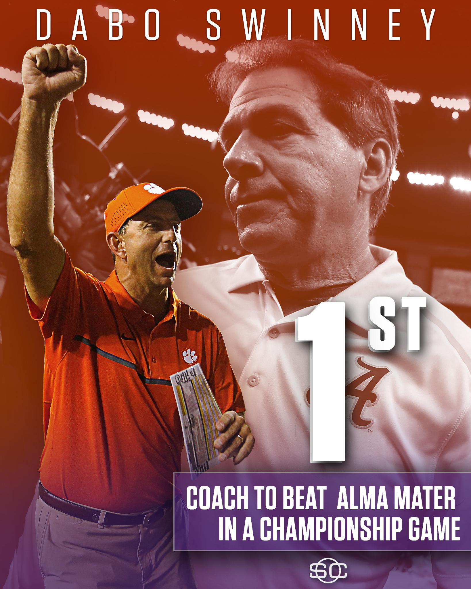 Dabo Swinney & Clemson's win is historic. https://t.co/emdSV2sTcp