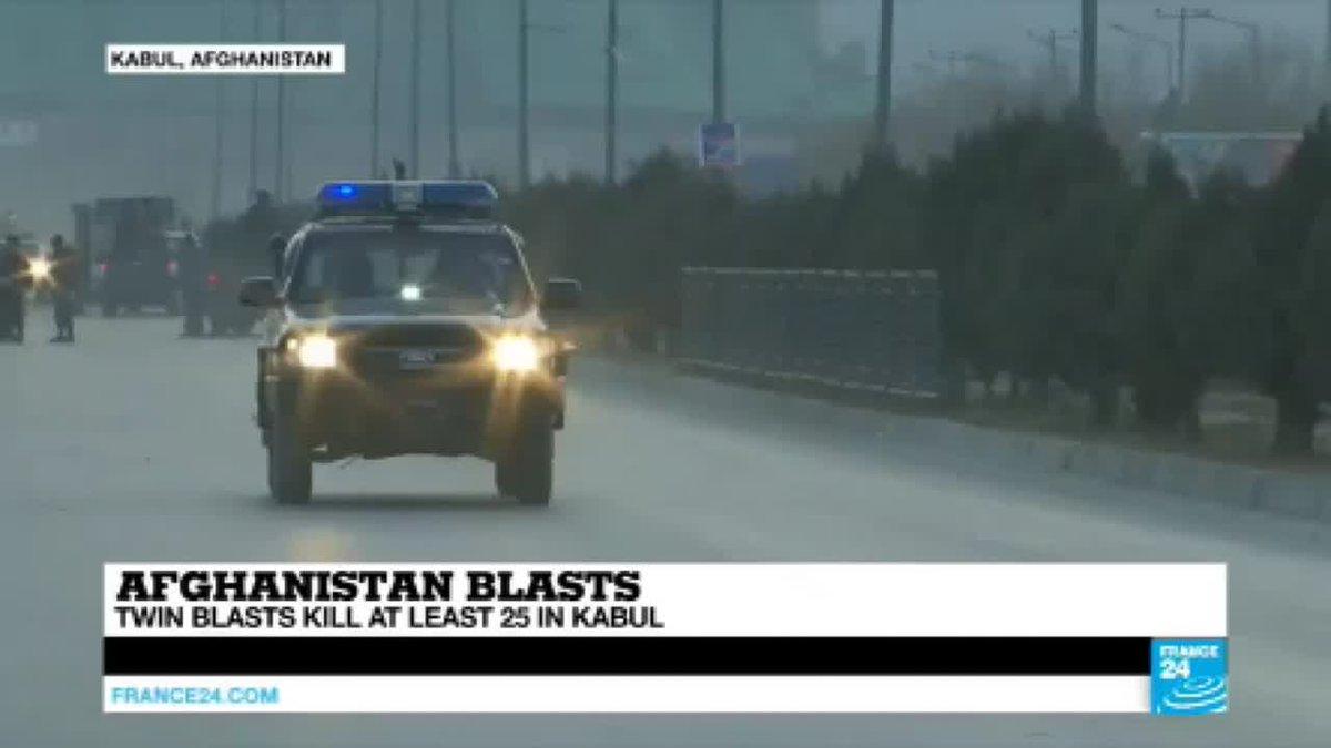 VIDEO -  Afghanistan: twin blasts kill at least 25 in Kabul, Taliban claim the attacks
