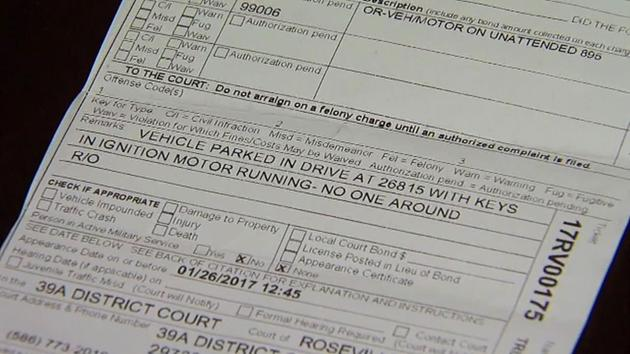 Man gets $128 ticket for warming his car in his own driveway