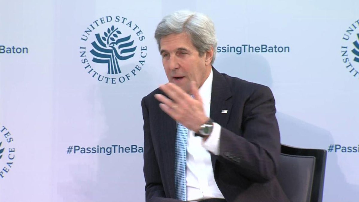 Secretary @JohnKerry discusses refugee crisis, combatting violent extremism at @USIP #PassingTheBaton event.