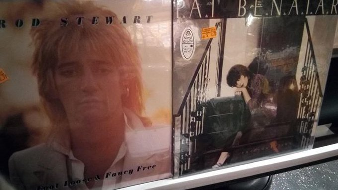 Happy Birthday to Rod Stewart and Pat Benatar!  Find music from both of these singers (new and used) at Vinyl Bay 7