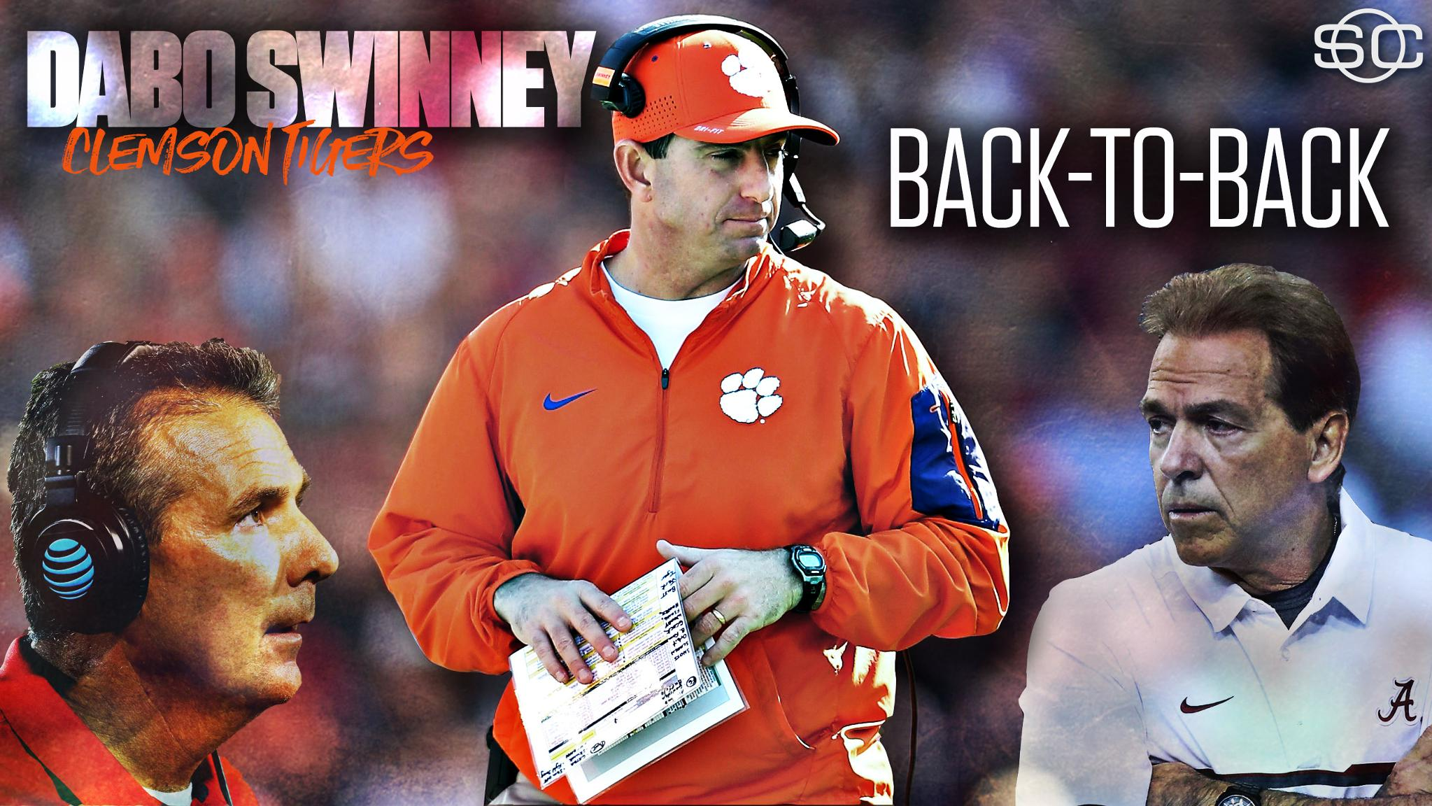 Impressive. Dabo Swinney beat Urban Meyer and Nick Saban back-to-back to help propel the Tigers to the title. https://t.co/PPtx9Cvfhz