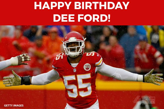 HAPPY BIRTHDAY to player Dee Ford!