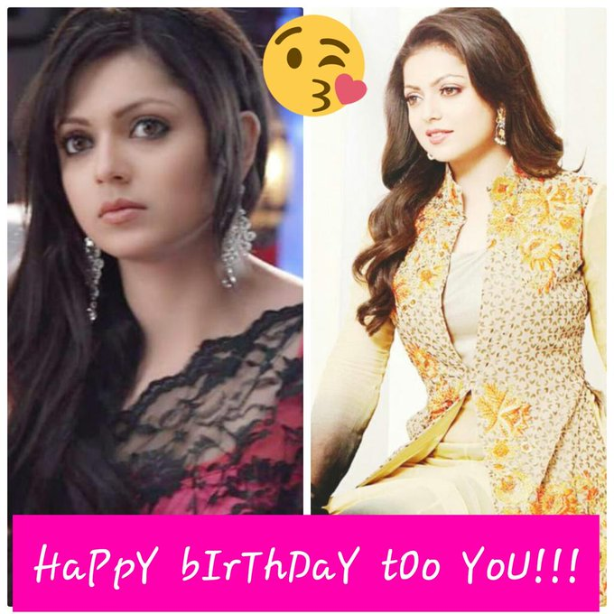 HaPpY  bIrThDaY  tOo  YoU!!!   Drashti Dhami   32 years! ! !   So you always be happy! ! !