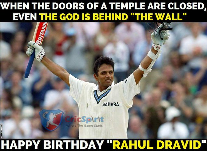 "Happy Birthday ""Rahul Dravid\"""