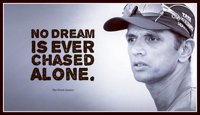 """Time and tide waits for nobody, except Rahul Dravid.\"" Happy-Birthday \THE WALL\"