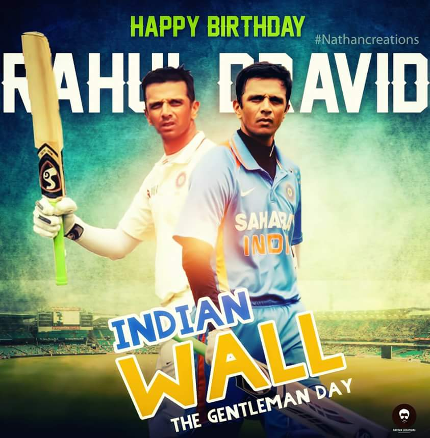 Happy birthday Rahul Dravid ...!!! True legend . A perfect cricketer