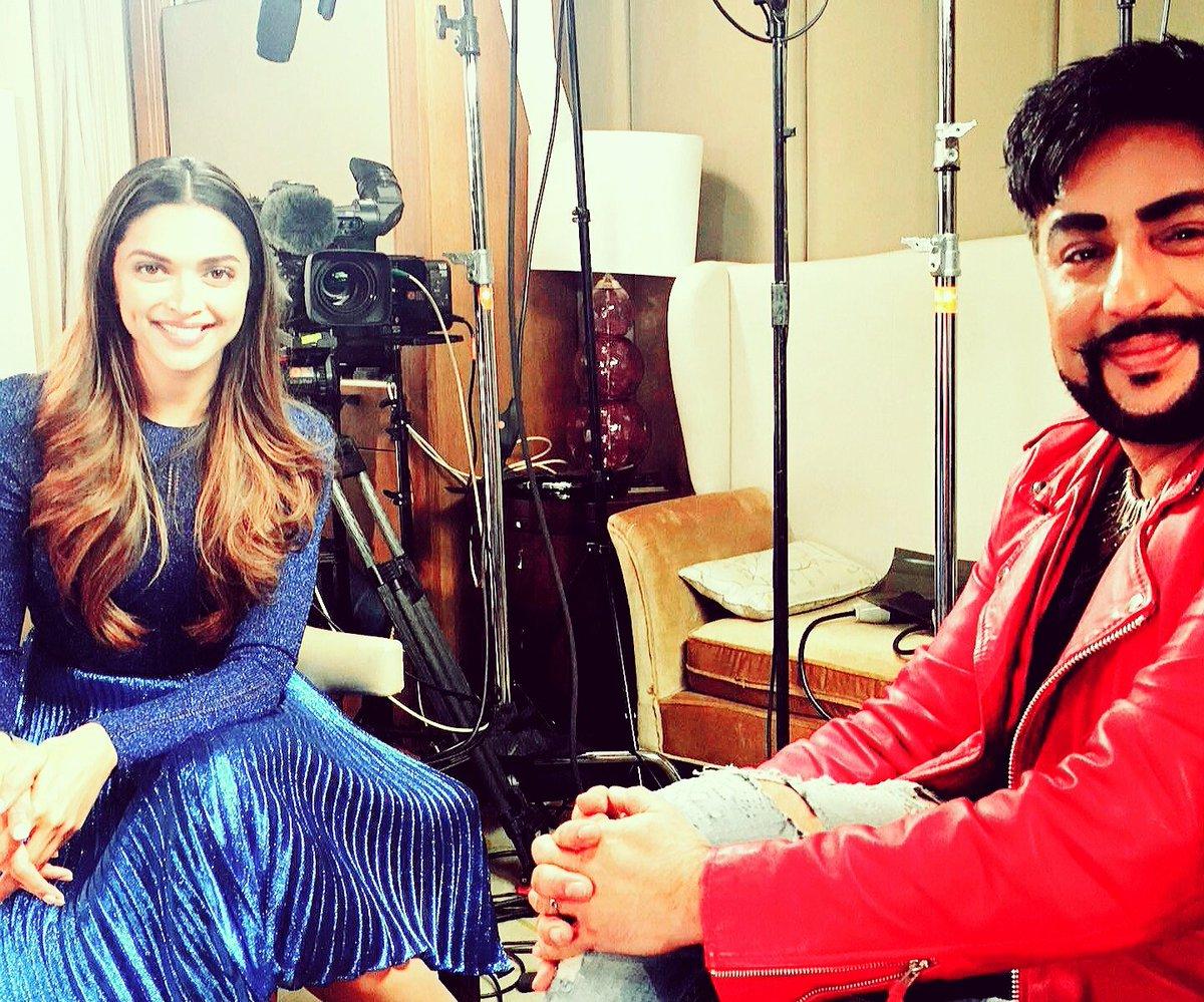 I interviewed @deepikapadukone today for @bbcasiannetwork! Video + Interview on show next week. https://t.co/pRyTSNWFii
