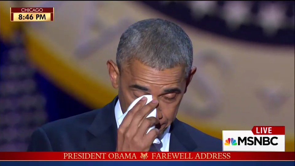How could you NOT cry when Barack thanked Michelle during the #ObamaFarewell address?!? https://t.co/FrW3IbrZb8 https://t.co/b617rBpN3u