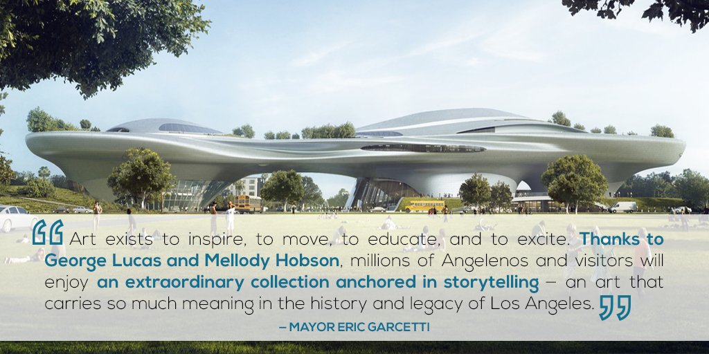 It's official, Los Angeles will be the future home of the Lucas Museum of Narrative Art! → https://t.co/PbEK3sNlLa https://t.co/E9yfGTWud3