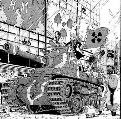 G9フォッシロイド軍団に対抗するために用意した戦車。車体側面に「97」と書かれてるので、おそらく九七式中戦車(チハ)だと