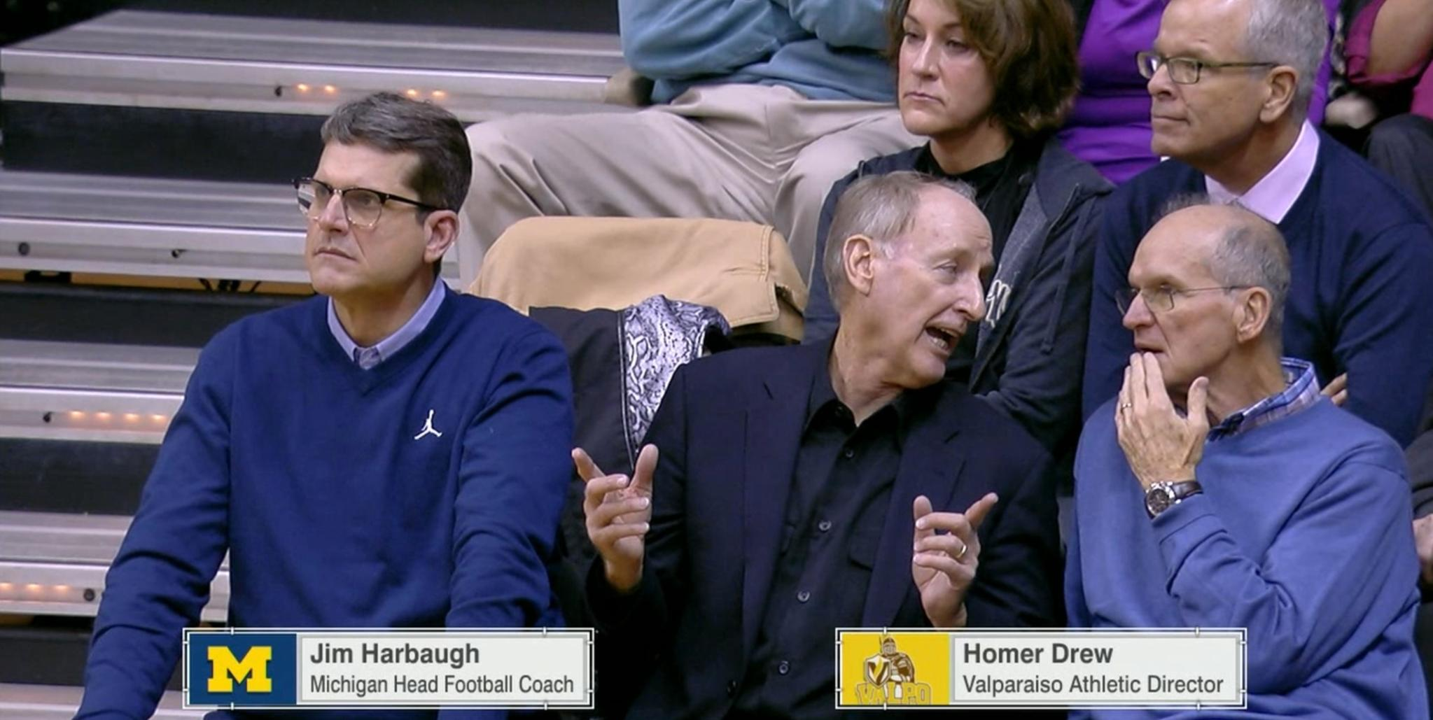 Oh hey, Coach!  Jim Harbaugh is taking in the Kentucky-Vanderbilt game. https://t.co/7fBJjuGUEI