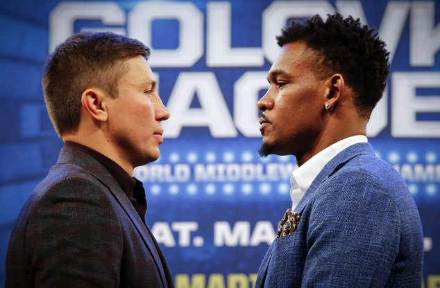 Photos: Gennady Golovkin, Daniel Jacobs - Face To Face in NYC https://t.co/MWfr83wdxD #boxing https://t.co/Y2afqSQ7TW