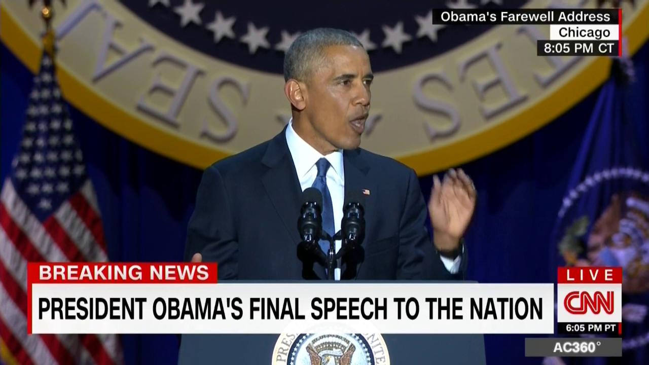 A 'four more years' chant breaks out during the #ObamaFarewell speech https://t.co/xrT9gdTzJ3 https://t.co/OxQqbJkckq