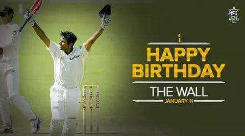 Commitment, Consistency, Class. Here\s wishing a very Happy Birthday to Rahul Dravid