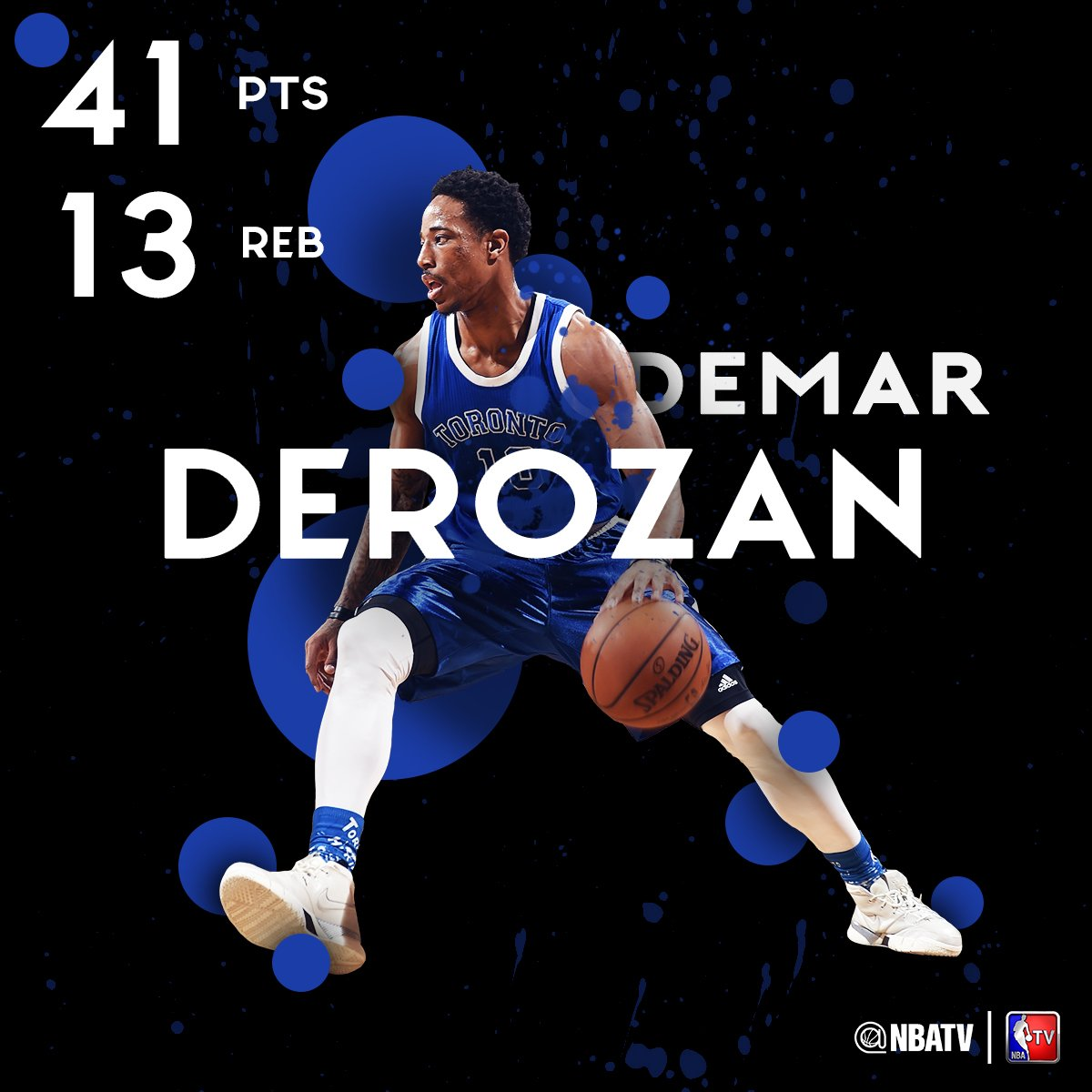 DeMar DeRozan goes OFF for a season-high 41 PTS in the @raptors 114-106 win over the Celtics. ������ https://t.co/bICJxs9qkx