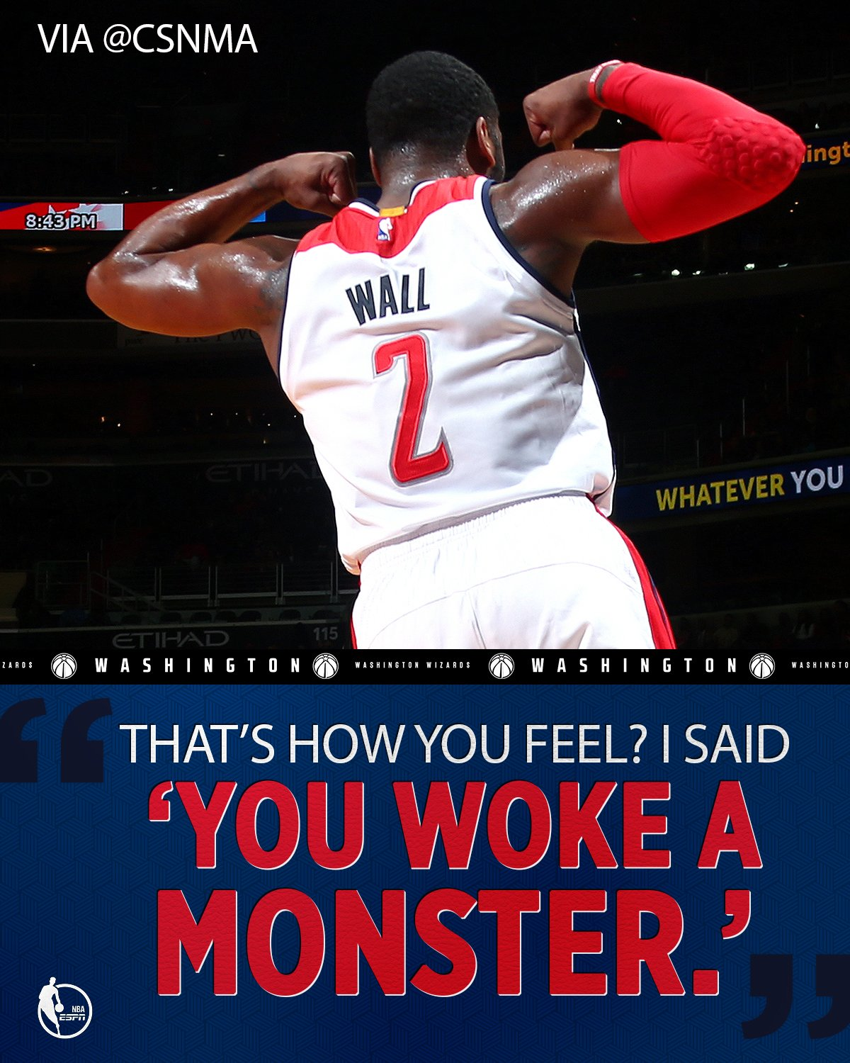 John Wall was not a fan of Denzel Valentine's 4th quarter dance moves. https://t.co/h6LKvIVf6e