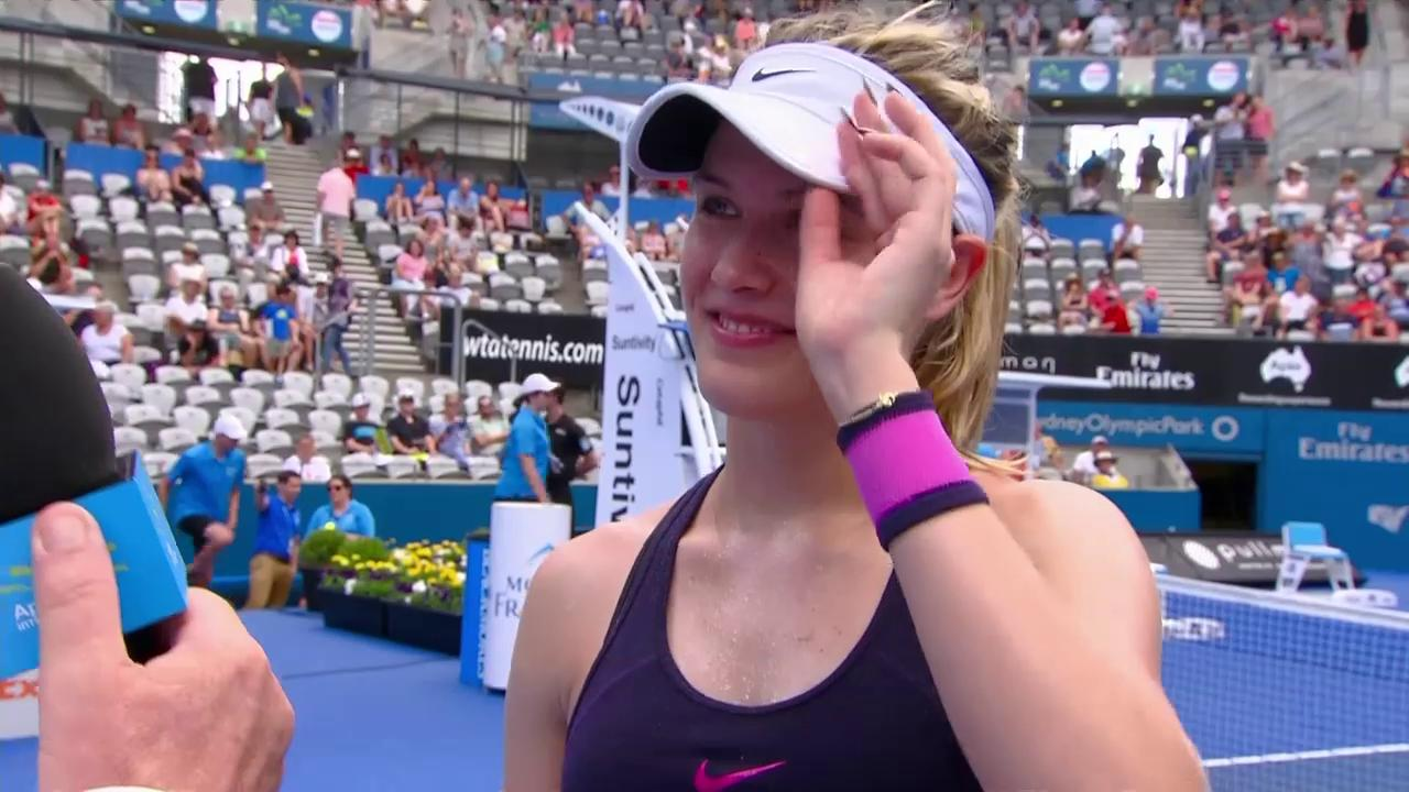 'I'm feeling more and more confident!' -@GenieBouchard #SydneyTennis https://t.co/ezCBHuwFlz