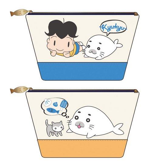 . ↓『少年アシベGO!GO!ゴマちゃんサガラ刺繍ペンポーチ』(2種)発売日:1/下旬価    格:¥1,550ボリュー