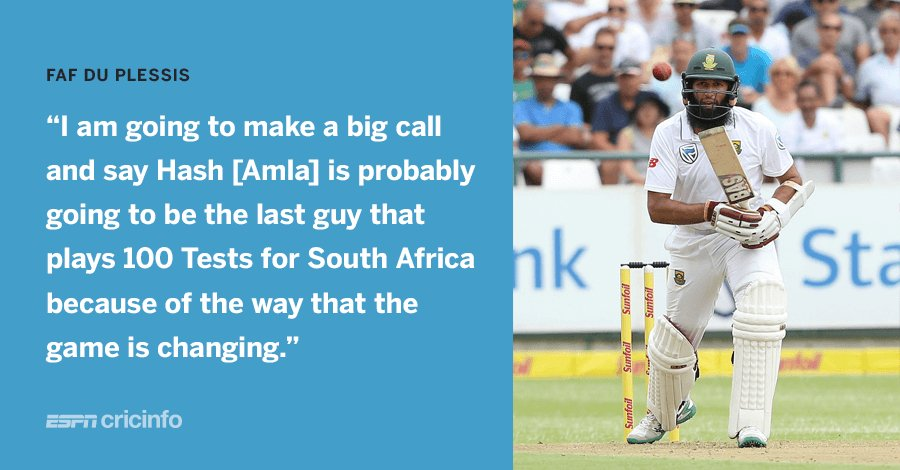 Will Faf du Plessis' prediction come true?   https://t.co/BV64DnmN2J #Amla100 https://t.co/7uBb2tyfUa