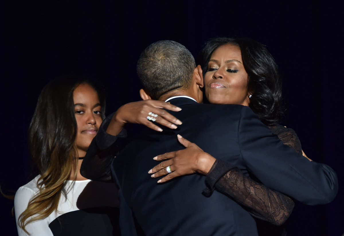 Michelle and Barack, we all miss you already. #ObamaFarewell